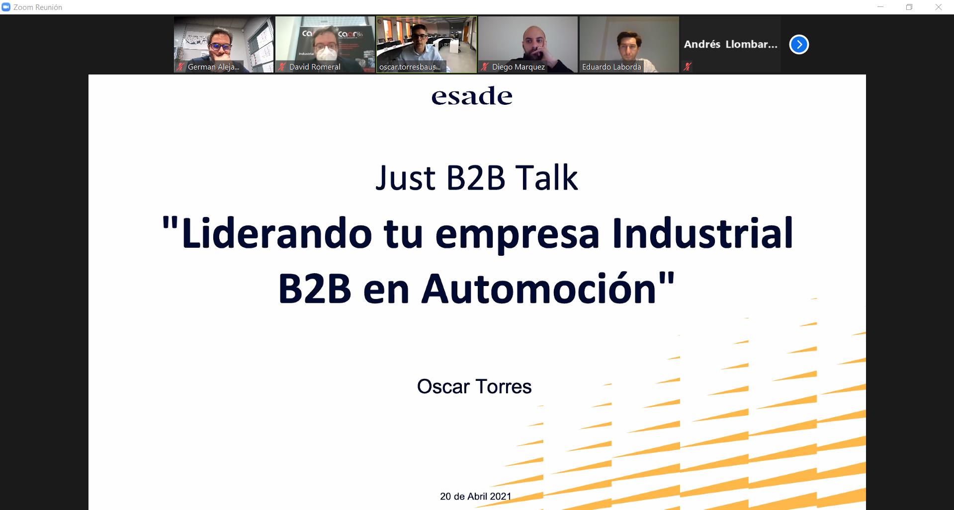 Videoconferencia tu empresa Industrial B2B Automoción